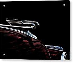 1940 Chevy Hood Ornament Acrylic Print by Douglas Pittman