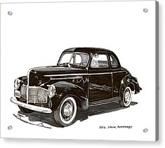 1940 Studebaker Business Coupe Acrylic Print by Jack Pumphrey