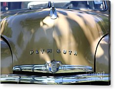 1949 Plymouth Delux Sedan . 5d16206 Acrylic Print by Wingsdomain Art and Photography