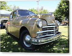 1949 Plymouth Delux Sedan . 5d16207 Acrylic Print by Wingsdomain Art and Photography