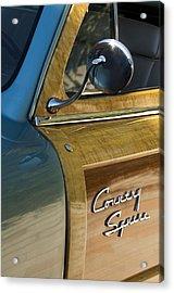 1951 Ford Woodie Country Sedan Acrylic Print by Jill Reger
