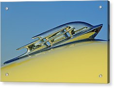 1953 Plymouth Hood Ornament 2 Acrylic Print by Jill Reger