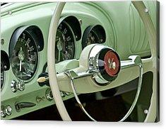 1954 Kaiser Darrin Steering Wheel Acrylic Print by Jill Reger
