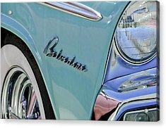 1955 Plymouth Belvedere Emblem Acrylic Print by Jill Reger