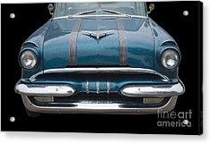 1955 Pontiac Star Chief Front Acrylic Print by Betty LaRue