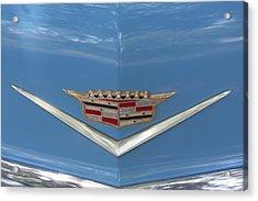 1956 Cadillac Emblem Acrylic Print by Linda Phelps