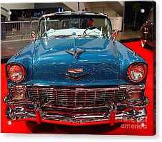 1956 Chevrolet Bel-air Convertible . Blue . 7d9246 Acrylic Print by Wingsdomain Art and Photography