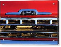 1957 Chevrolet Pickup Truck Grille Emblem Acrylic Print by Jill Reger