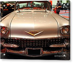 1958 Cadillac Eldorado Biarritz Convertible . Silver . 7d9421 Acrylic Print by Wingsdomain Art and Photography