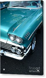 1958 Chevy Belair Front End 01 Acrylic Print by Paul Ward