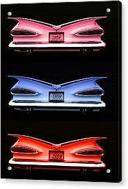 1959 Chevrolet Eyebrow Tail Lights Acrylic Print by Tim McCullough