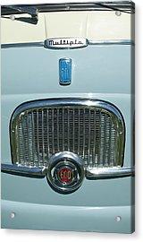 1959 Fiat Multipia Hood Emblem Acrylic Print by Jill Reger