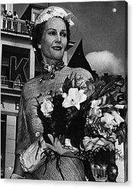 1959 Us Presidency.  Second Lady Acrylic Print by Everett