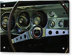 1965 Chevrolet Chevelle Malibu Ss Steering Wheel Acrylic Print by Jill Reger
