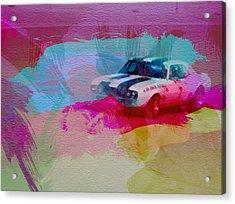 1968 Chevy Camaro Acrylic Print by Naxart Studio