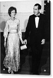 1969 Us Presidency.  First Lady Acrylic Print by Everett