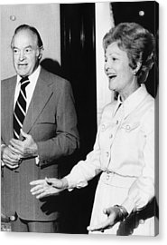 1973 Us Presidency.  Bob Hope And First Acrylic Print by Everett