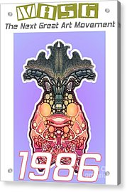 1986 Masg Art Collector's Poster By Upside Down Artist L R Emerson II Acrylic Print by L R Emerson II