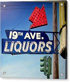19th Ave Liquors Acrylic Print by Jim Gleeson