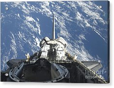 A Partial View Of Space Shuttle Acrylic Print by Stocktrek Images