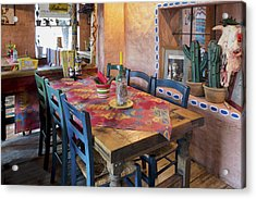 A Tex Mex Restaurant In The Town Acrylic Print by Jaak Nilson