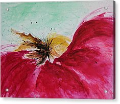 Abstract Flower  Acrylic Print by Ismeta Gruenwald