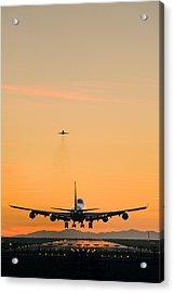Aeroplane Landing, Canada Acrylic Print by David Nunuk