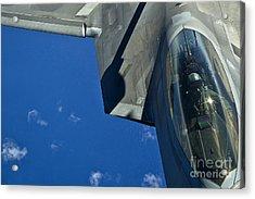 An F-22 Raptor In Flight Acrylic Print by Stocktrek Images