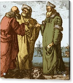 Aristotle, Ptolemy And Copernicus Acrylic Print by Science Source