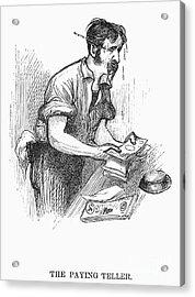 Bank Panic, 1873 Acrylic Print by Granger
