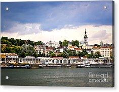 Belgrade Cityscape On Danube Acrylic Print by Elena Elisseeva