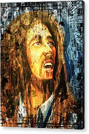 Bob Marley Acrylic Print by Biren Biren