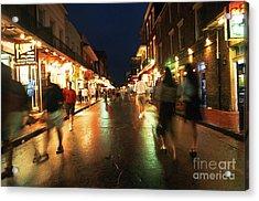 Bourbon Street At Dusk Acrylic Print by Thomas R Fletcher