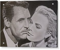 Cary Grant And Grace Kelly Acrylic Print by Mike OConnell