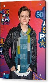 Chris Colfer At Arrivals For Fox Acrylic Print by Everett