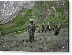 Coalition Soldiers From U.s. Canada Acrylic Print by Everett