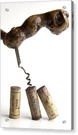 Corks Of French Wine. Acrylic Print by Bernard Jaubert