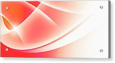 Curved Intersecting Lines Acrylic Print by Ralf Hiemisch