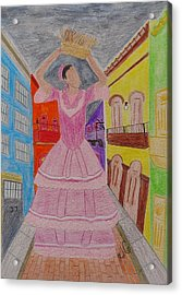 Dancer In Viejo San Juan Acrylic Print by Jessica Cruz