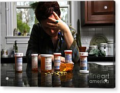 Depression And Addiction Acrylic Print by Photo Researchers, Inc.