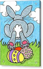 Easter Bunny Retreat Acrylic Print by Linda Battles