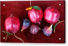 Figs And Pomegranates Acrylic Print by Ron Regalado