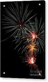 Fireworks Acrylic Print by Cindy Singleton