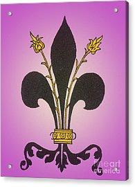 Fleur-de-lis Acrylic Print by Science Source