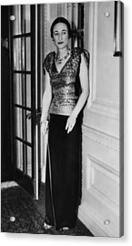 Future Duchess Of Windsor Wallis Acrylic Print by Everett