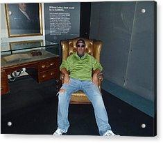 I Barry R Jones Jr Will Now Be The Poster Boy For Jeffery Johnson Regional Pools  Regional Stucco Acrylic Print by Barry R Jones Jr