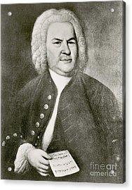 Johann Sebastian Bach, German Baroque Acrylic Print by Photo Researchers
