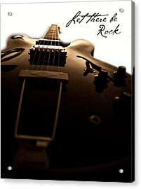 Let There Be Rock Acrylic Print by Christopher Gaston