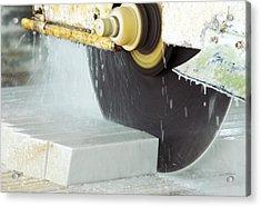 Marble Quarrying Acrylic Print by Ria Novosti
