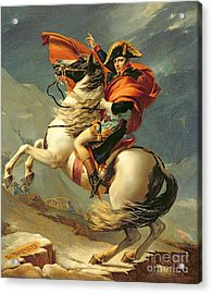 Napoleon Crossing The Alps On 20th May 1800 Acrylic Print by Jacques Louis David